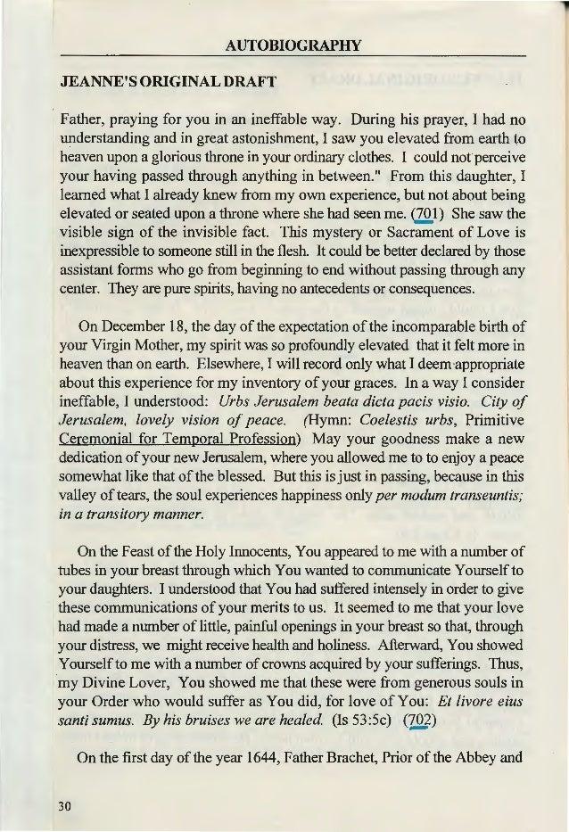 the writings of jeanne chezard de matel autographic life vol 2 of 2 t