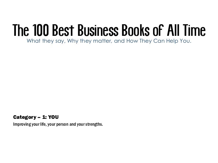 The 100 Best Business Books Of All Time Slide 3
