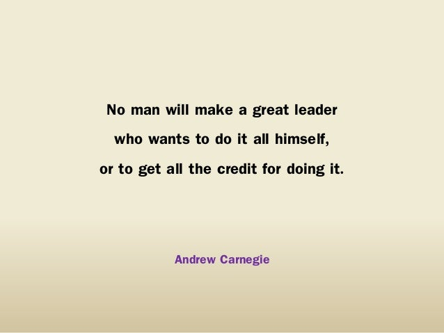 50. On Becoming a Leader
