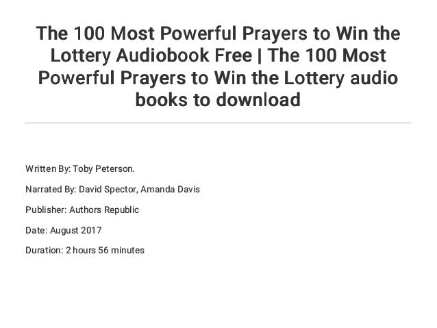 The 100 Most Powerful Prayers to Win the Lottery Audiobook Free | The…