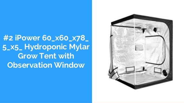 #2 iPower 60_x60_x78_ 5_x5_ Hydroponic Mylar Grow Tent with Observation Window
