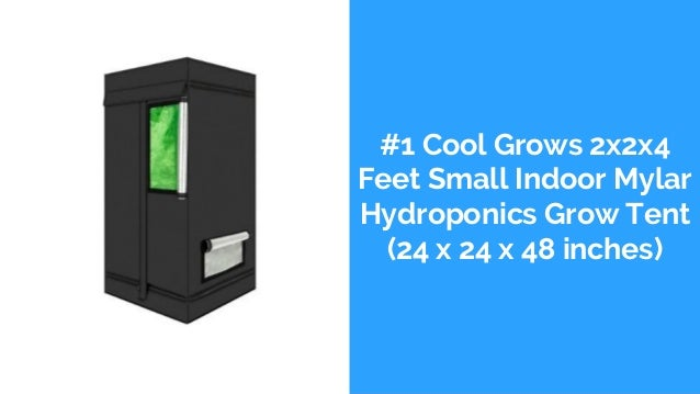 #1 Cool Grows 2x2x4 Feet Small Indoor Mylar Hydroponics Grow Tent (24 x 24 x 48 inches)