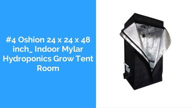 #4 Oshion 24 x 24 x 48 inch_ Indoor Mylar Hydroponics Grow Tent Room