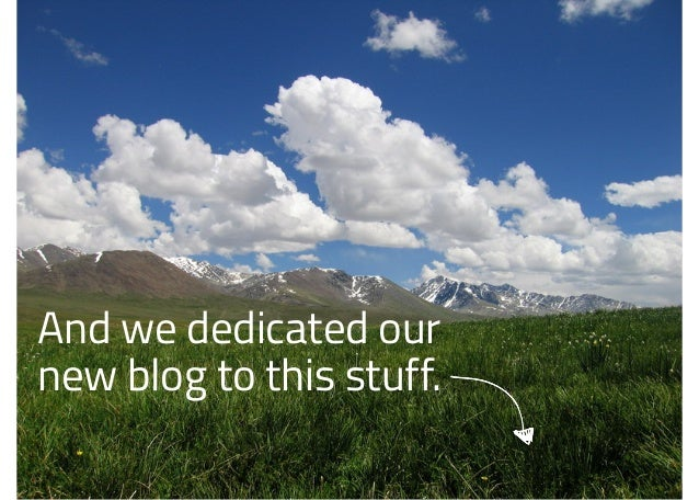 And we dedicated our new blog to this stuff.