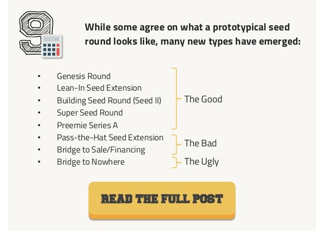 9 While some agree on what a prototypical seed round looks like, many new types have emerged: READ THE FULL POST • Genesi...