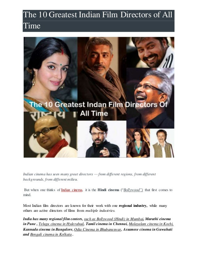 The 10 greatest indian film directors of all time