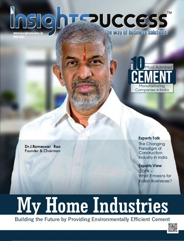 The 10 most admired cement manufacturing companies in india