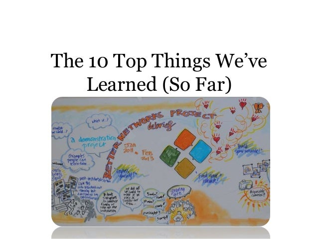 The 10 Top Things We'veLearned (So Far)