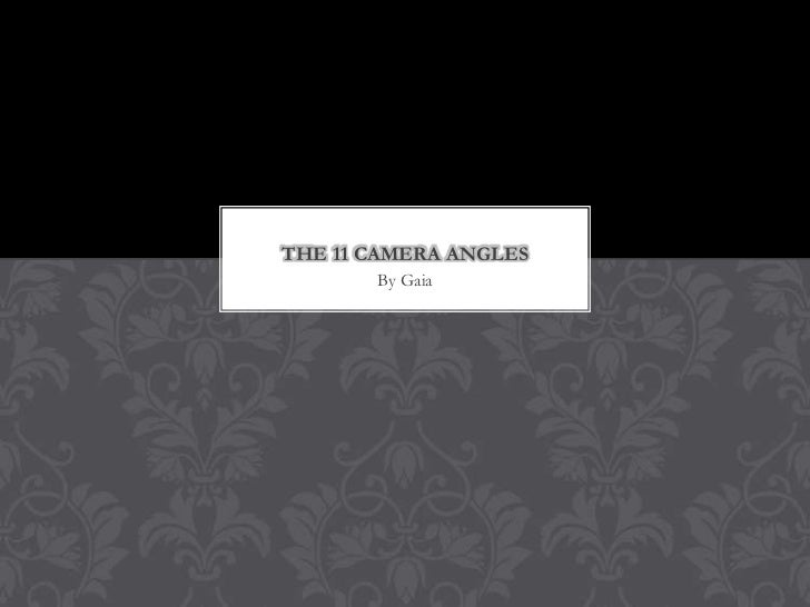 THE 11 CAMERA ANGLES       By Gaia