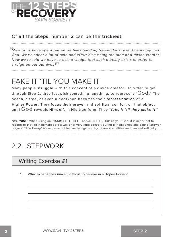 Aa Step 2 Worksheets | Worksheet
