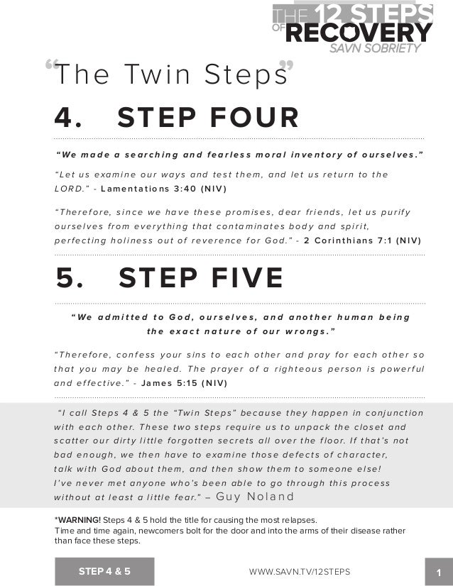 The 12 Steps of Recovery savn sobriety workbook – Alcoholics Anonymous 12 Steps Worksheets