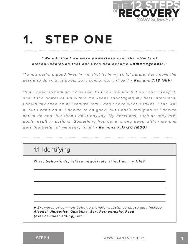 Printables Aa Step 2 Worksheets step 2 aa worksheet davezan davezan