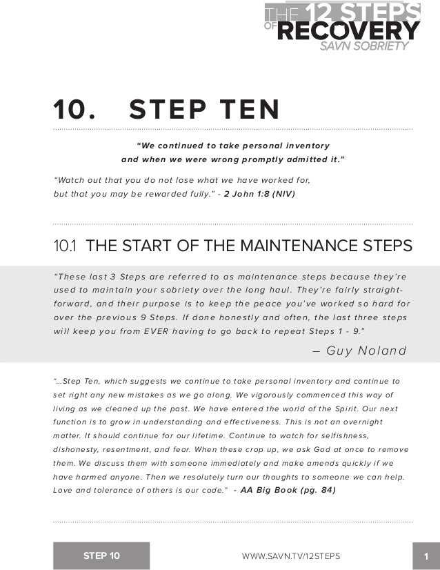 Printables Step One Aa Worksheet the 12 steps of recovery savn sobriety workbook tv12steps 3 39