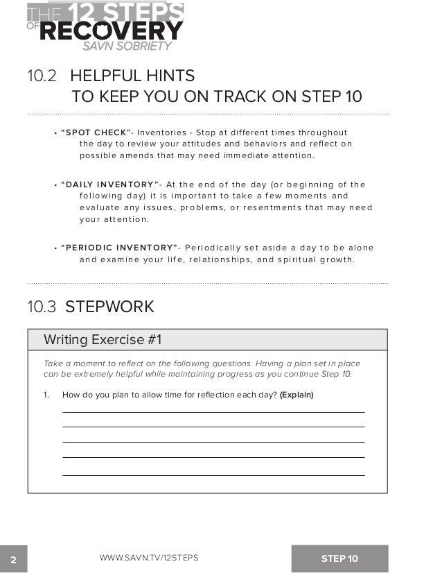 Printable AA Step 4 Worksheets | AA 4th Step Inventory Worksheets ...