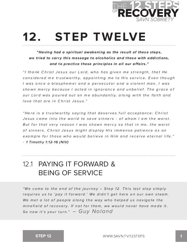 Narcotics Anonymous 12 Steps