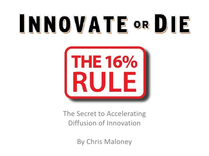 The Secret to Accelerating Diffusion of Innovation    By Chris Maloney