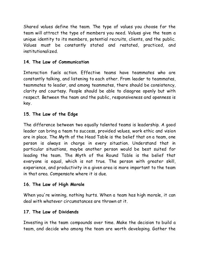 The 17 indisputable laws of teamwork pdf free download adobe reader