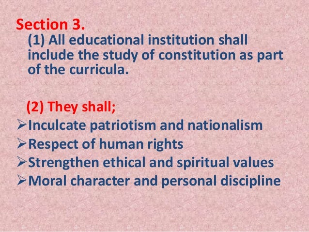 The Ethics of Education in the Secular State