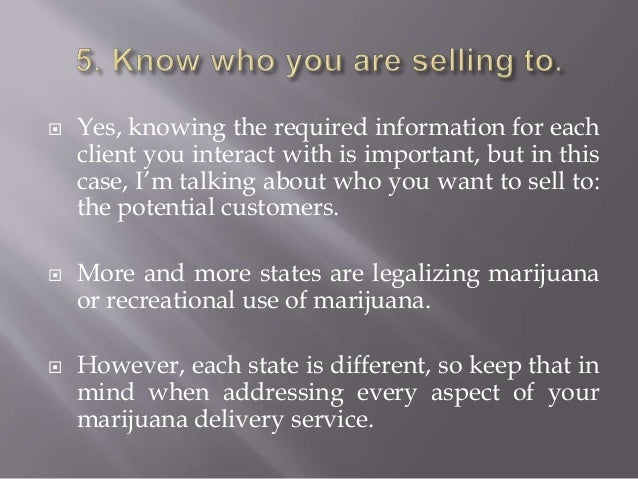 Mmj delivery service business plan