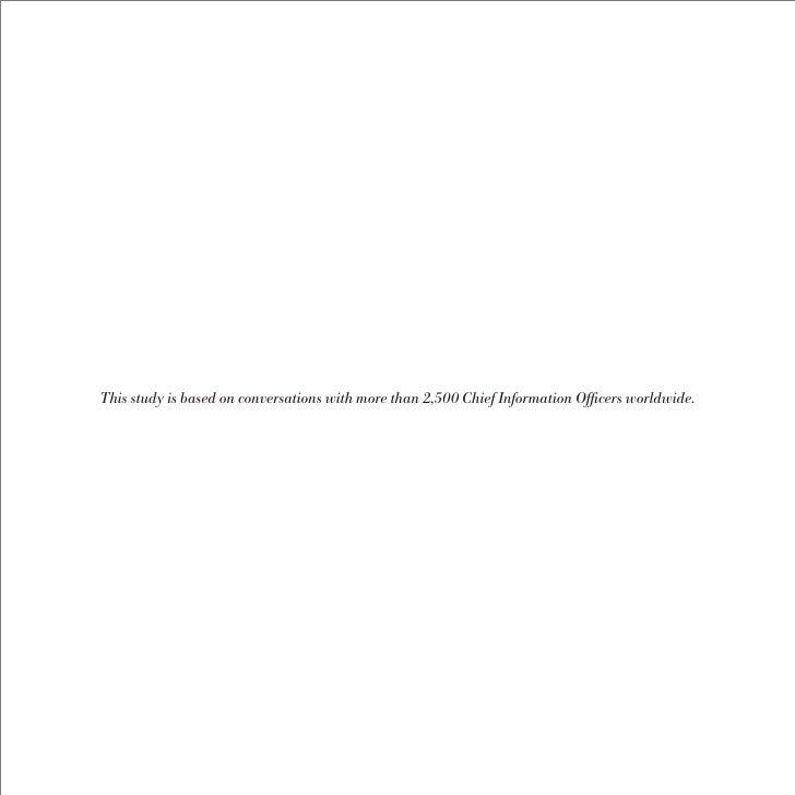 The 2009 IBM Global CIO Study: The New Voice of the CIO Slide 3