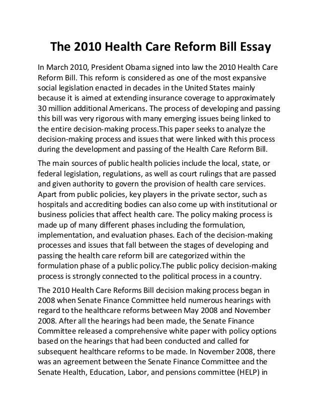 health care essay