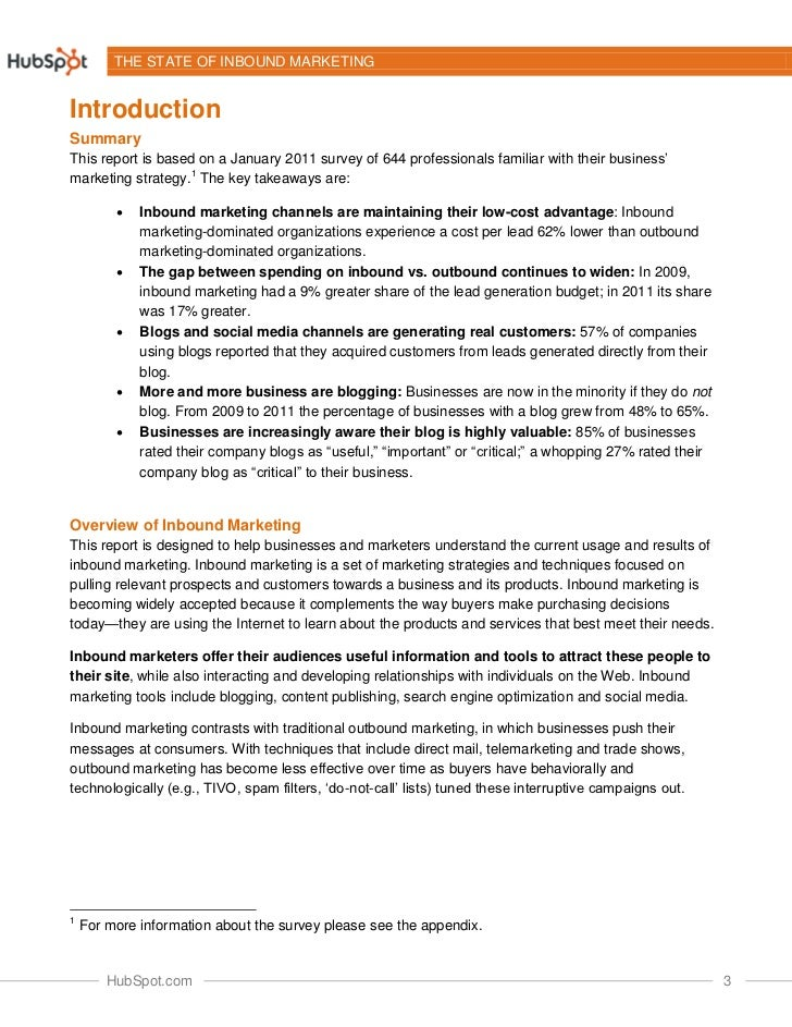 The 2011 State of Inbound Marketing Slide 3