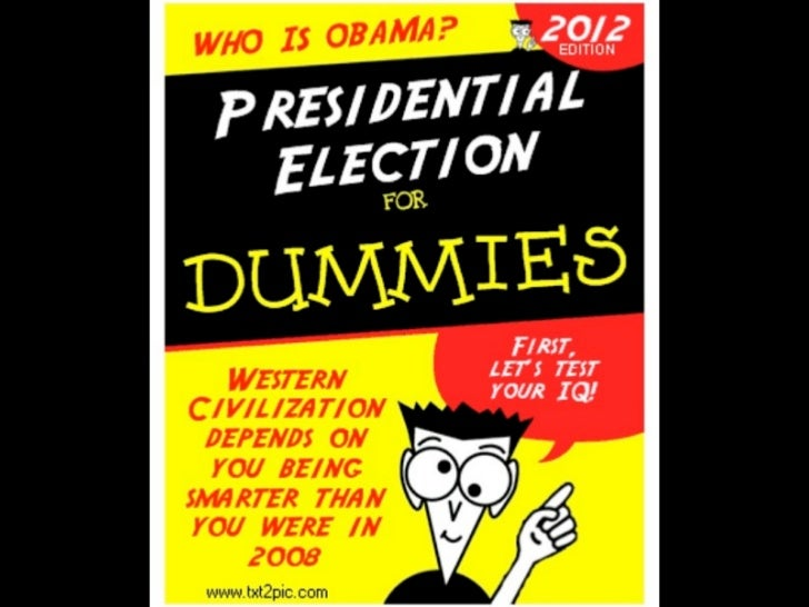 The 2012 presidential election for dummies