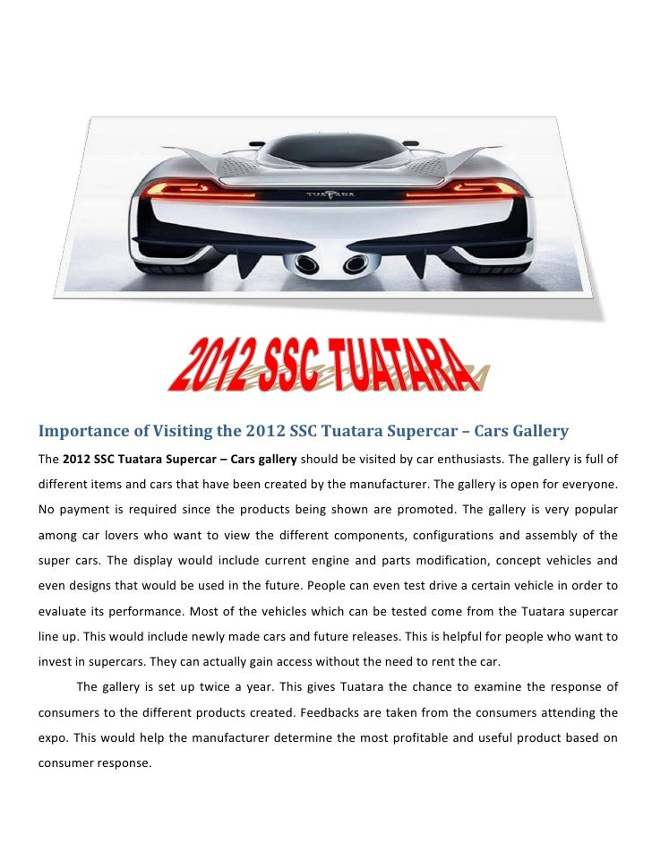 Importance of Visiting the 2012 SSC Tuatara Supercar – Cars GalleryThe 2012 SSC Tuatara Supercar – Cars gallery should be ...