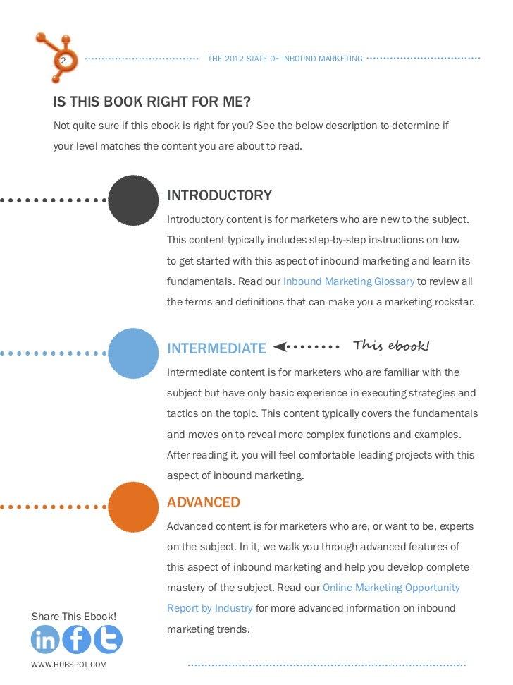 The 2012 State of Inbound Marketing Slide 2