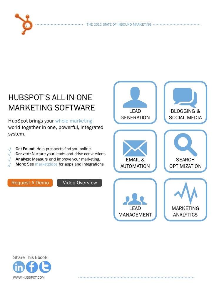 The 2012 State of Inbound Marketing Slide 3
