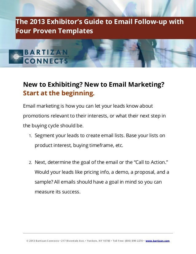 The 2013 Exhibitor's Guide to Email Follow-up with Four Proven Templa…