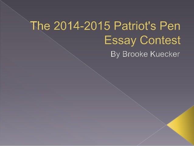 patriots pen essay contest 2015