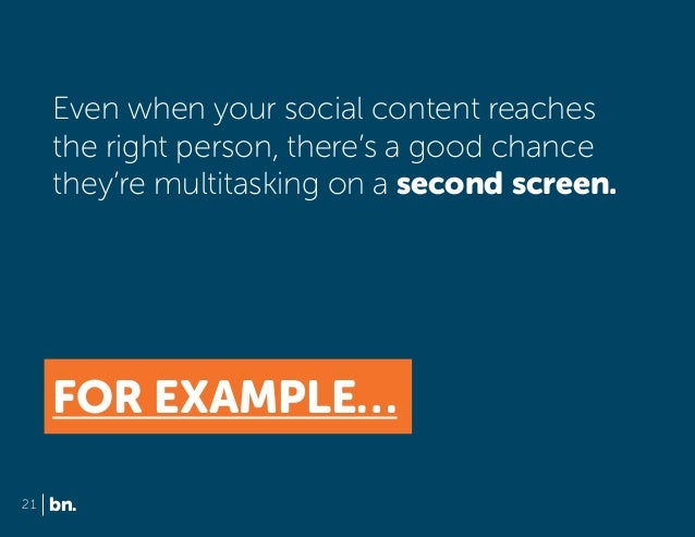 Even when your social content reaches the right person, there's a good chance they're multitasking on a second screen.  FO...