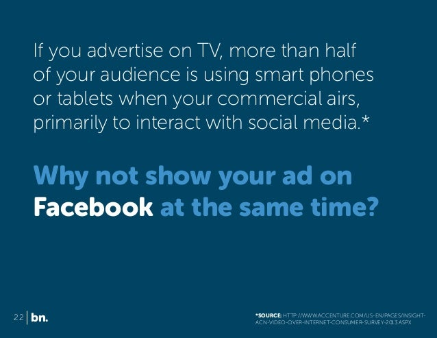 If you advertise on TV, more than half of your audience is using smart phones or tablets when your commercial airs, primar...