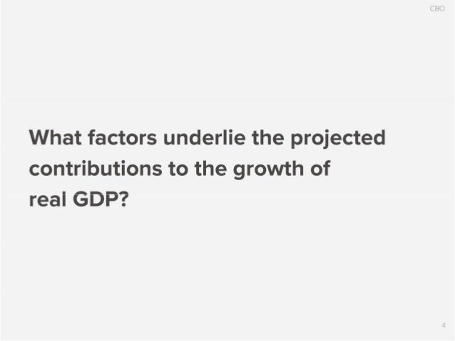 CBO  What factors underlie the projected contributions to the growth of real GDP?