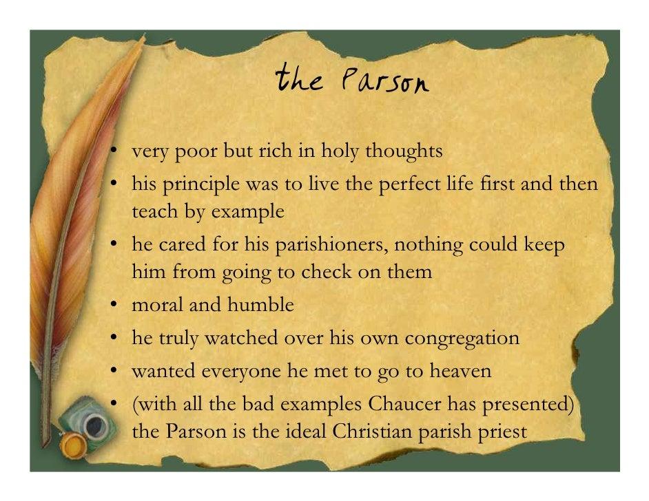 Canterbury Tales Parson