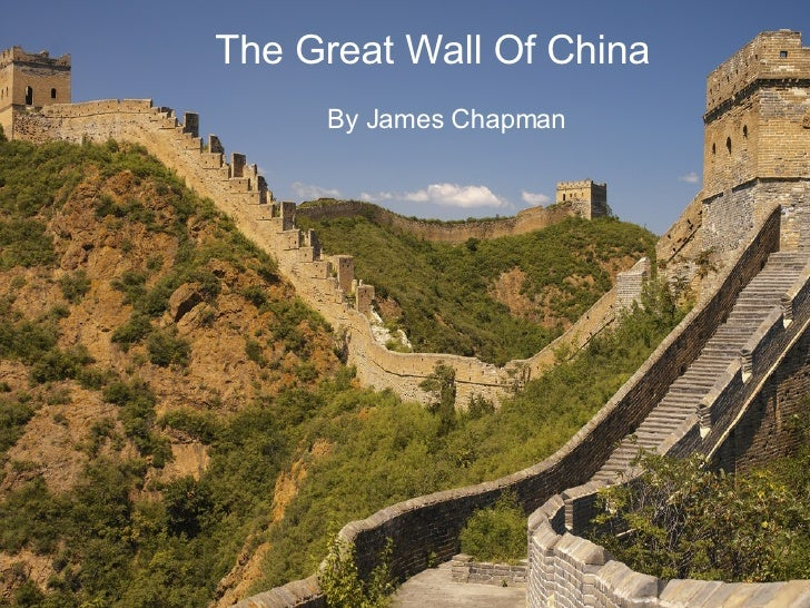 The Great Wall Of China By James Chapman