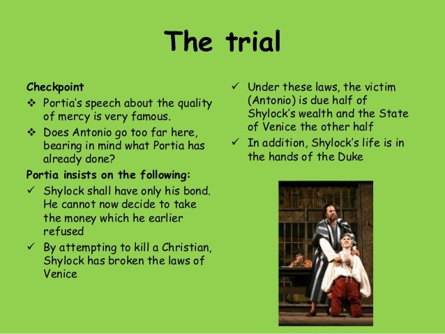 a focus on antonio and shylock in the merchant of venice