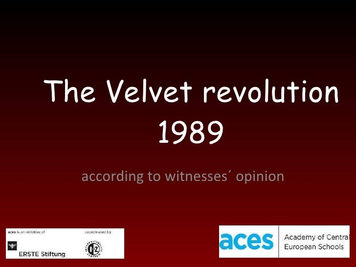 The Velvet revolution 1989 according to witnesses´ opinion