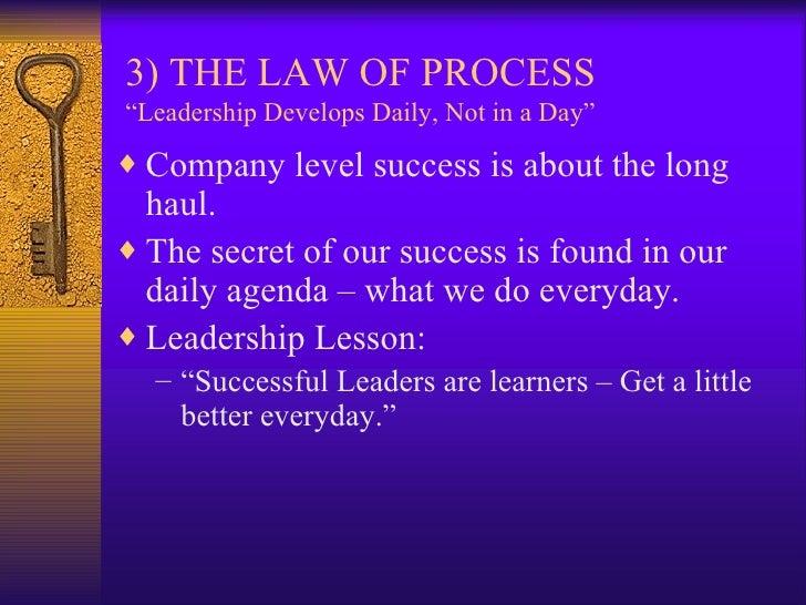 .the 21 irrefutable laws of leadership jm