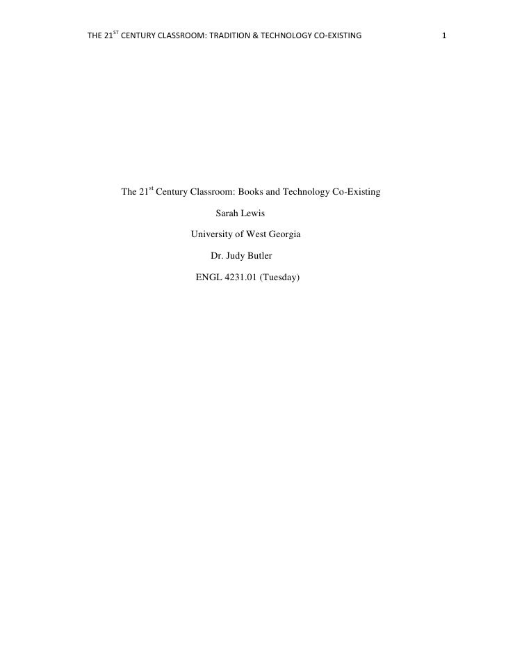 The 21st Century Classroom: Books and Technology Co-Existing<br />                          ...