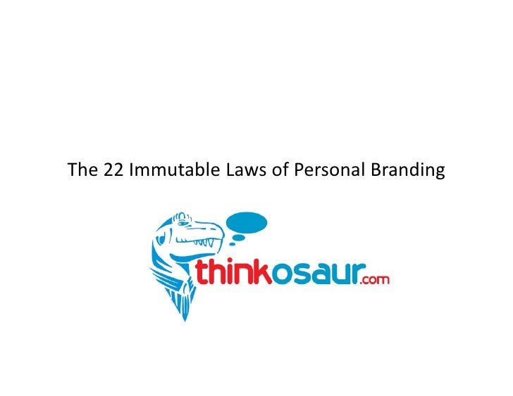 The 22 Immutable Laws of Personal Branding