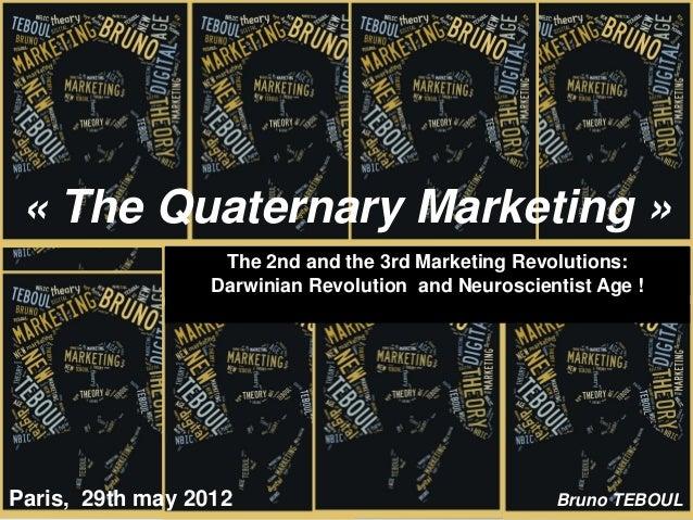 « The Quaternary Marketing »                   The 2nd and the 3rd Marketing Revolutions:                  Darwinian Revol...