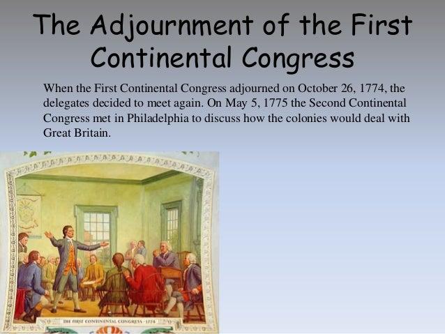 when did the first continental congress meet