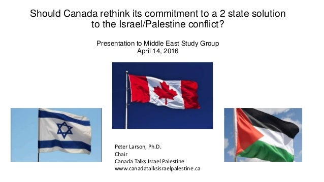 Should Canada rethink its commitment to a 2 state solution to the Israel/Palestine conflict? Presentation to Middle East S...