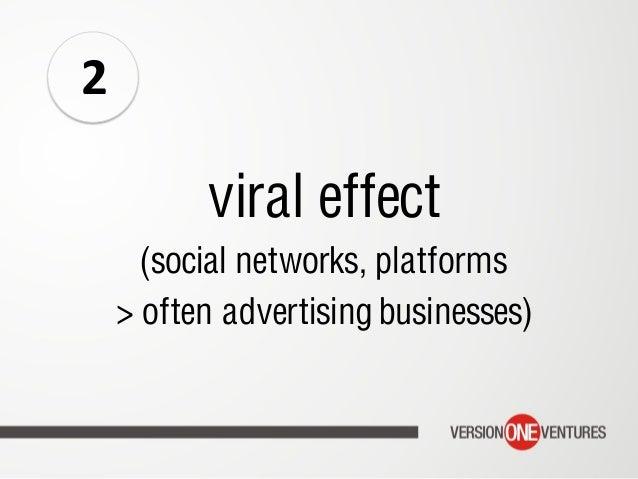 viral effect (social networks, platforms > often advertising businesses) 2