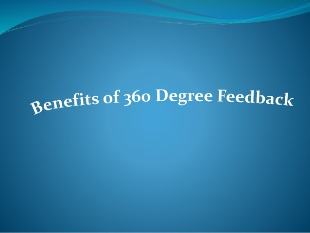 Evaluation DegreeFeedbackSurvey  Degree Feedback