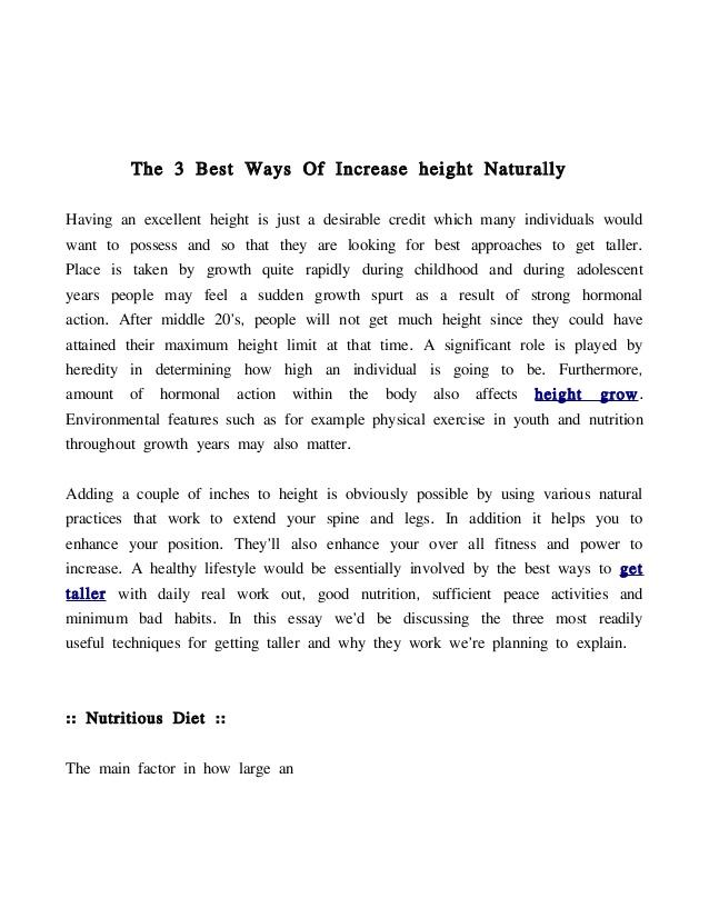 Best Ways To Grow Taller Naturally