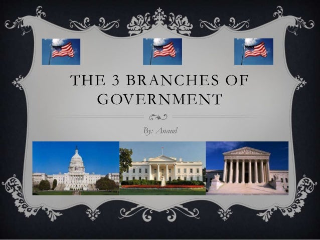 THE 3 BRANCHES OF GOVERNMENT By: Anand