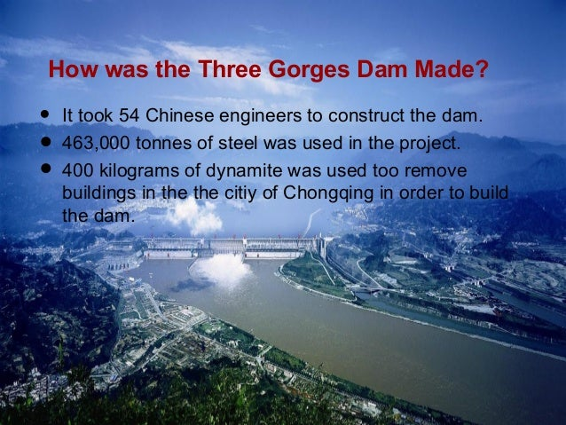stakeholders of the three gorges dam project Saving the cultural relics of the three gorges the world's biggest ever hydropower project the area prior to the completion of the three gorges dam.
